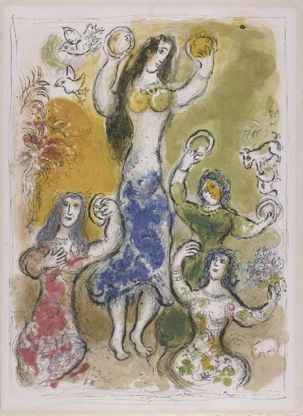 en paolo chagall Dance of Miriam, Sister of Moses' - Copia