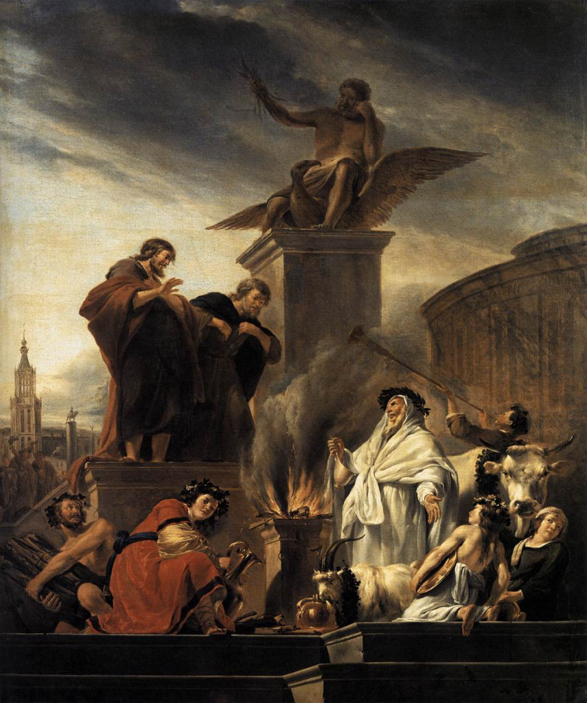 Berchem,_Nicolaes_Pietersz._-_Paul_and_Barnabas_at_Lystra_-_1650 english e paolo - Copia