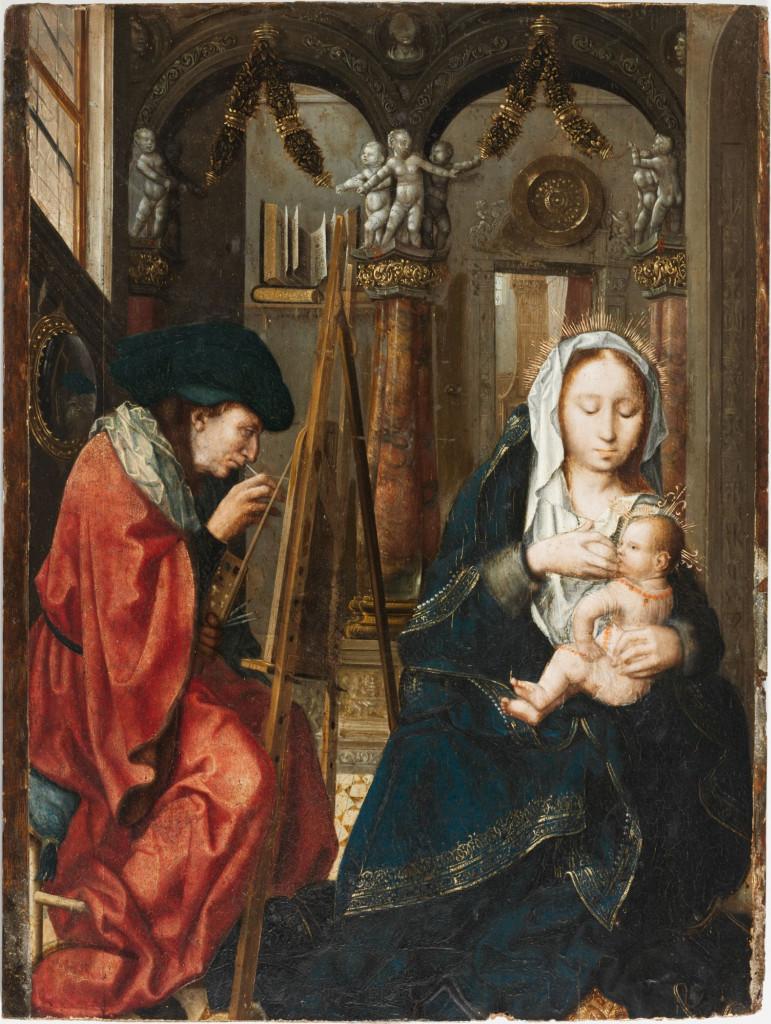 la mia  paolo San Luca dipinge la madonna - Copia