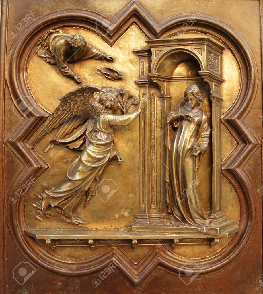 la mia e paolo 17096091-Annunciazione-di-Lorenzo-Ghiberti-angelo-Gabriele-annuncia-alla-Vergine-Maria-che-avrebbe-concepito--Archivio-Fotografico