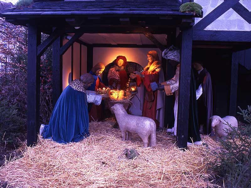 la mia e paolo Christmas crib at Schönleinplatz ... - Copia