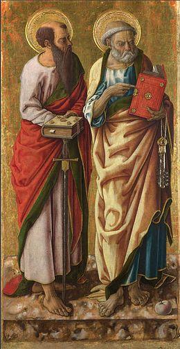 imm  paolo Carlo_crivelli,_Santi_Pietro_e_Paolo,_87x44_cm,_Londra,_National_Gallery