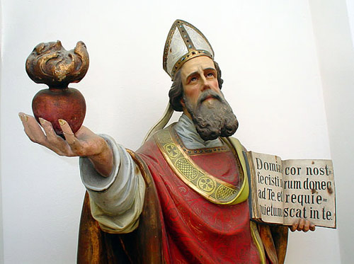 imm paolo  statua di sant'agostino Pavia