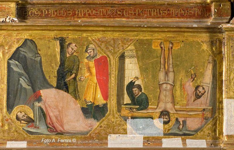 bicci di Lorenzo decapitazione di san paolo e crocifissione di san pietro