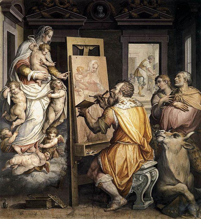 imm f paolo Giorgio_vasari,_san_luca_ritrae_la_vergine,_oratorio_di_san_luca,_annunziata
