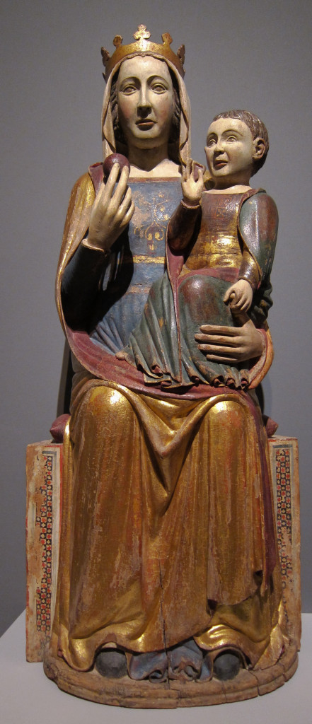 Enthroned Madonna with Christ Child, Master from Abruzzo, 1st ha
